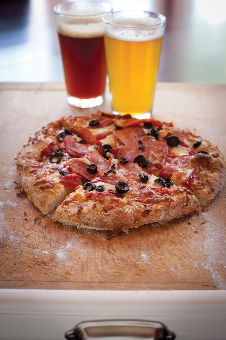 So perfect... I mean, who doesn't want pizza after a long day of brewing - Spent Grain Pizza Dough