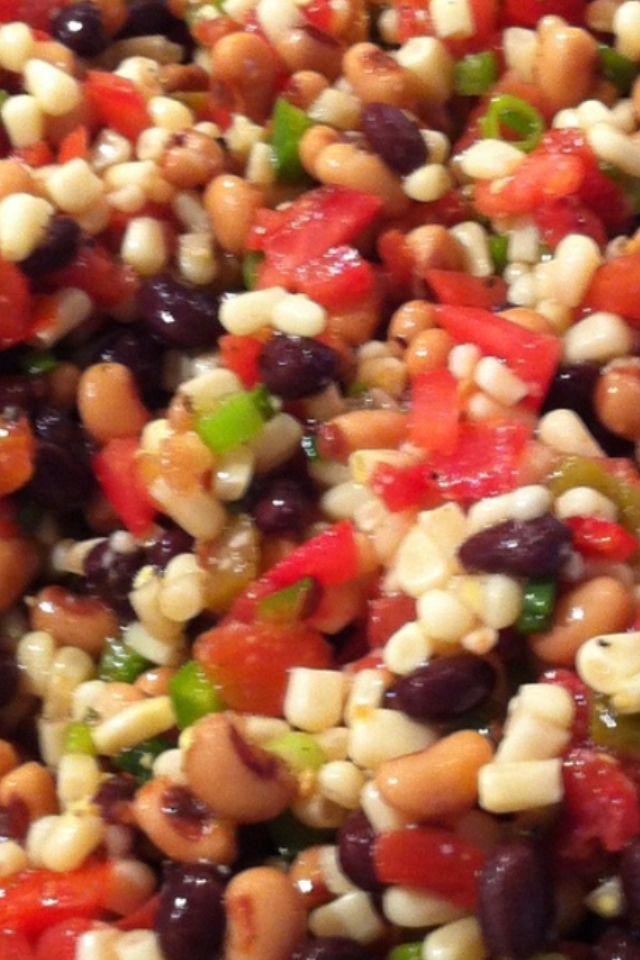 Corn And Black Bean Salad With Italian Dressing