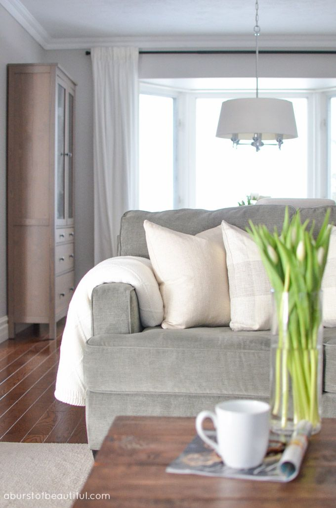 A Classic Living Room Exudes Modern Farmhouse Charm With Soothing Neutral Color Palette Clean