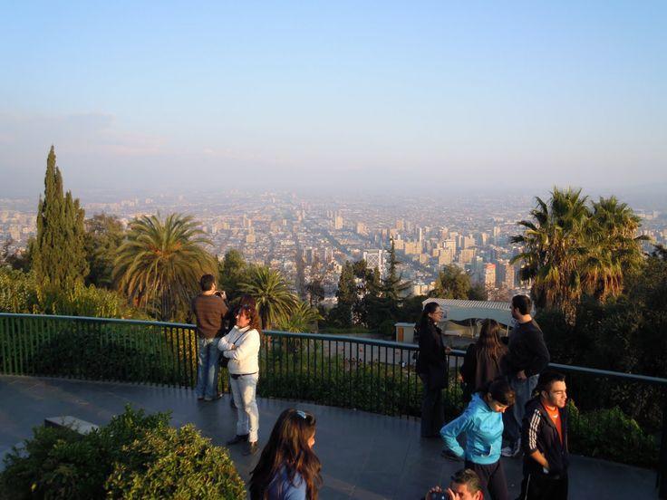 Cerro San Cristobal, Santiago, Chile.