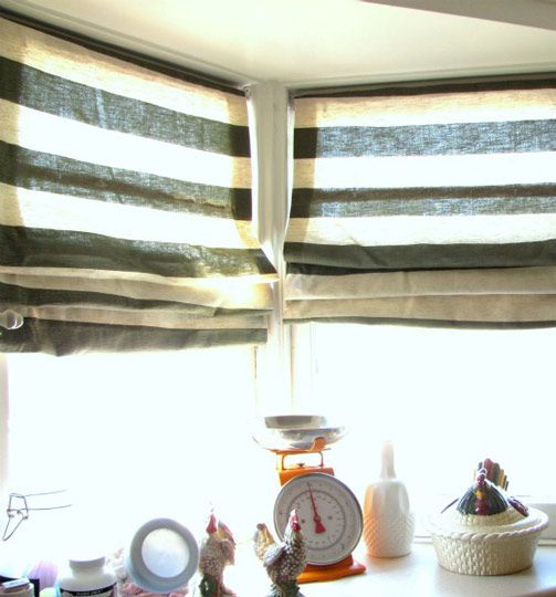 How To: No Sew Roman Shades -- brilliant, wish I'd thought of it before we got rid of all our old mini blinds!