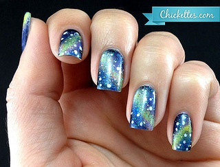 galaxy-nail-art by chickettes, via Flickr