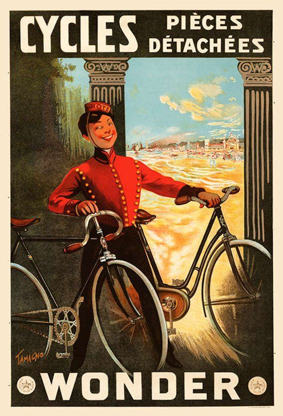Cicli Wonder Bicycle Poster Cycling Poster Bicicletta Vintage Bicicletta Poster Ciclismo Arte De France Cycling Art Plakat