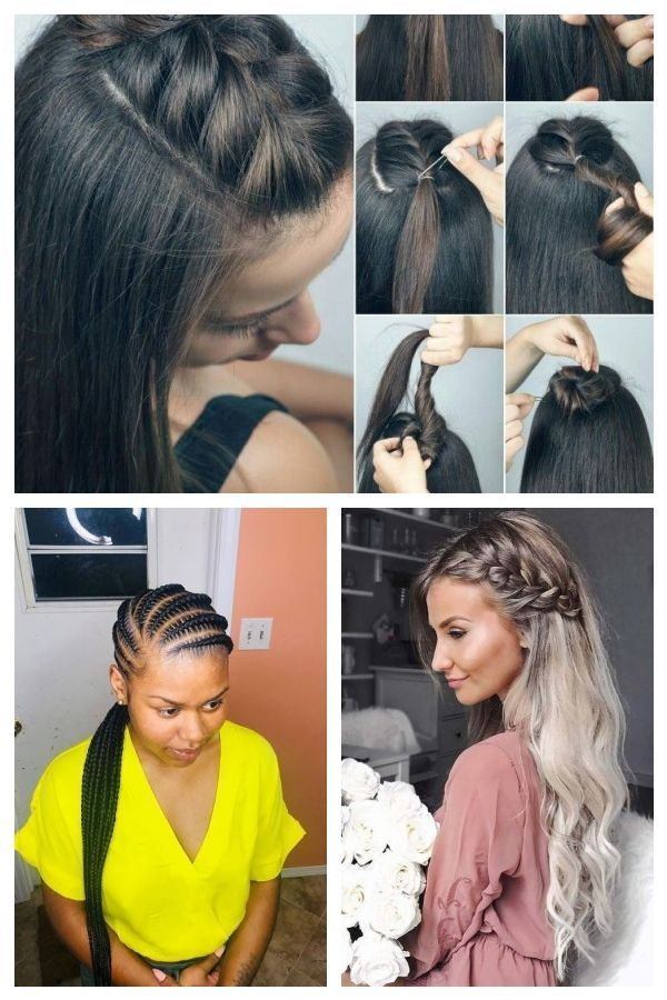 Halber Zopf Frisuren Geflochtenefrisuren Halfbraidedhairstyles Hair Styles Beauty Hair