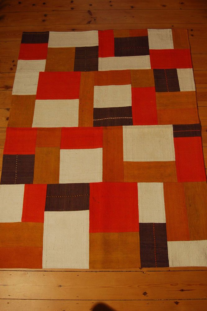 Mixed Colour Patchwork Kilim Rug Oriental Handmade In Turkey