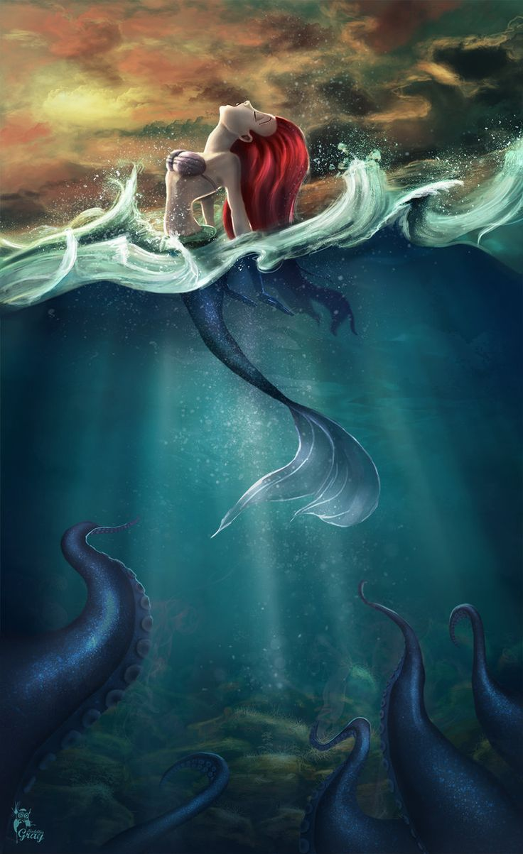 """Under The Sea by MedelliaGray.deviantart.com on @deviantART - Ariel (and Ursula) from """"The Little Mermaid"""""""