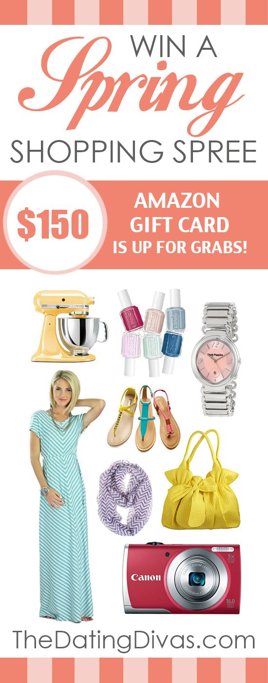 A Spring Shopping Spree GIVEAWAY! Just in time too! #springfashion www.TheDatingDivas.com
