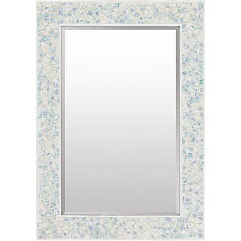 Yaxley 40-Inch x 28-Inch Wall Mirror in Grey