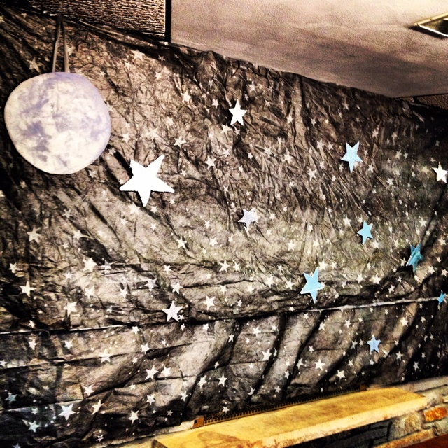 A starry night at the senior citizen prom