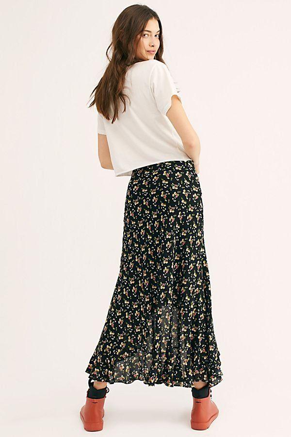 8c19516b8c St. Simons Skirt - Black Floral Sheer Maxi Skirt - Black Floral Skirts -  Sheer