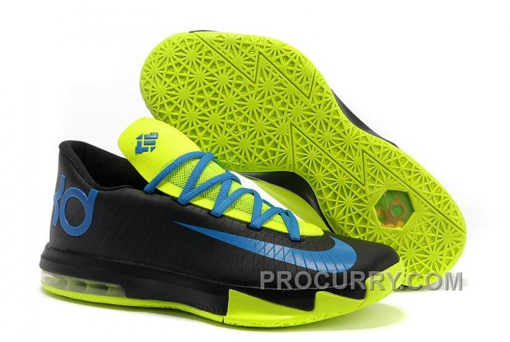 Nike Kevin Durant KD 6 VI Black Blue Green For Sale New Arrival