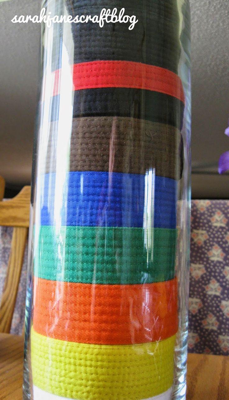 Karate belt display ideas - Martial Arts Belts Display Vase For Natalie