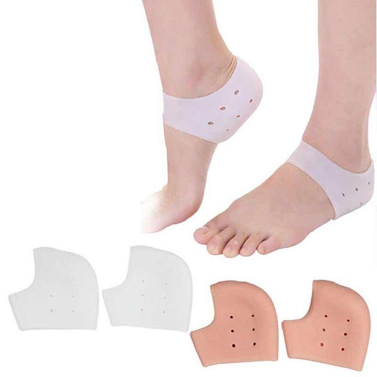 1Pair Massage Gel Socks Silicone Moisturizing Gel Heel Socks Rearfoot Protector Socks Foot Skin Care Pain Relief Feet Care Tool
