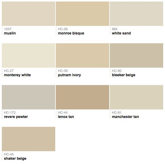 Benjamin Moore : best selling neutrals
