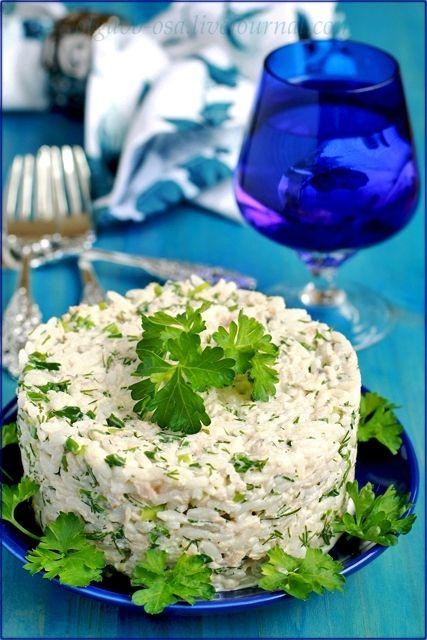 """Увидела в ленте у Наташи - tascha-cook салат """"Мимоза"""" и вспомнилось, что у нас никогда Мимозу не готовили, я ее пробовала только в гостях. Зато делали салат с рисом и…"""