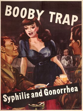 """""""Booby trap"""" vintage poster"""