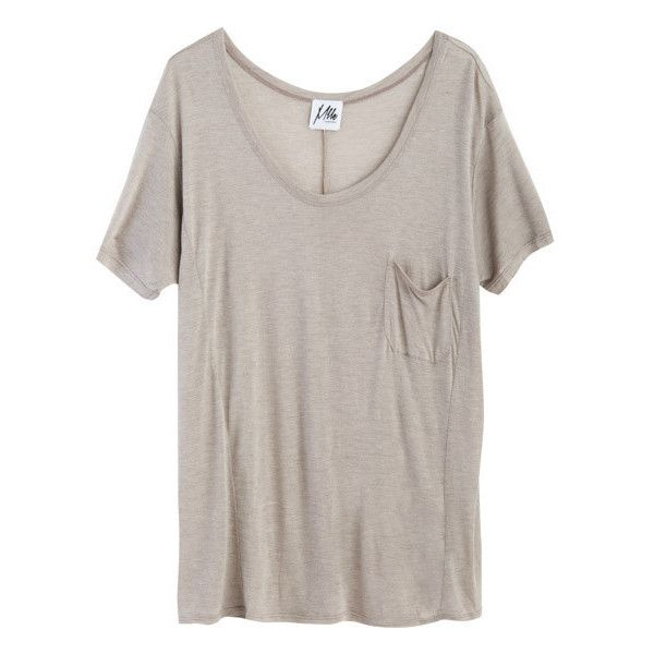 Mlle Mademoiselle Yaman Boyfriend Tee ($85) ❤ liked on Polyvore featuring tops, t-shirts, shirts, tees, latte, brown tops, tee-shirt, boyfriend fit shirt, boyfriend tops and boyfriend shirt