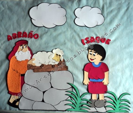 Tema: Abraão e Isaque [E.V.A] | Telma Artesanatos