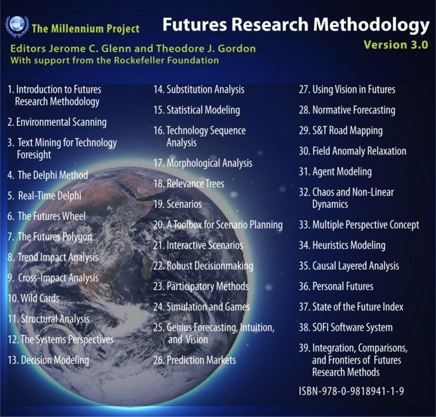 Futures Research Methodology Version 3.0 is the largest, most comprehensive collection of internationally peer-reviewed chapters on methods and tools to explore future possibilities that has ever been assembled in one resource.