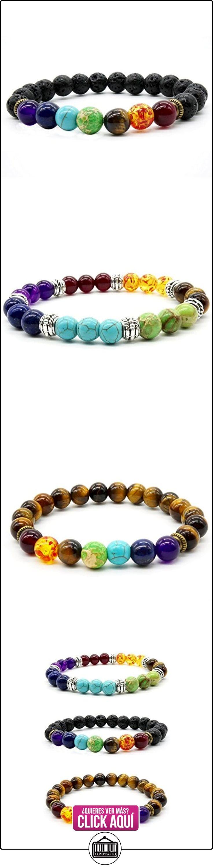 3pcs pulsera de piedra natural de Ojo de Tigre pulsera de Lava de curación Reiki Charme Chakra Hombres Mujeres Pulsera  ✿ Joyas para mujer - Las mejores ofertas ✿ ▬► Ver oferta: http://comprar.io/goto/B01N7EIQ32