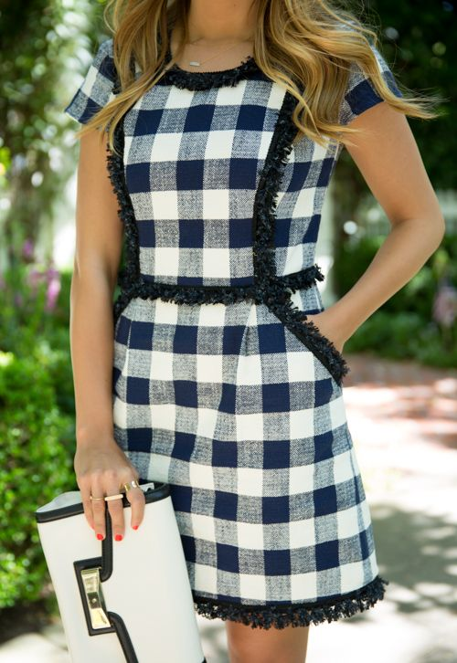 Megan Bos Preppy Style Inspiration |Fringed gingham