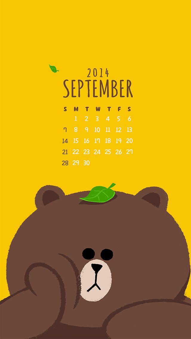 September Calendar 2014 - Cute Calendar iPhone wallpapers @mobile9