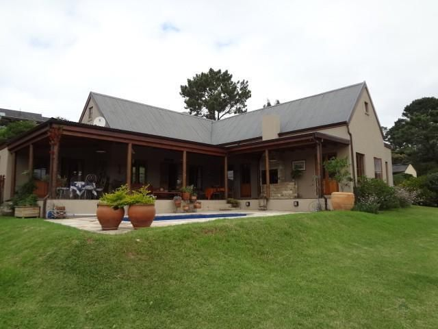 This rare find country style family home is the most suitable for close family and friends. It offers 4 bedrooms, 3 bathrooms, 2 reception areas, study and open plan kitchen with scullery, double garage and separate WCEnjoy the country living feeling, with views out onto farms and mountains. Only 5 min from town.Main bedroom en-suite with doors leading out onto the covered veranda, with built in braai. 2 rooms share a bathroom and all rooms have laminated flooring with built in ...