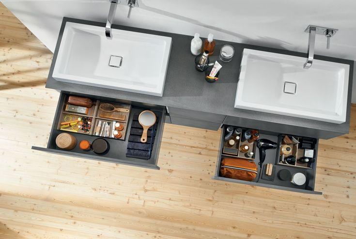 Creëer orde en overzicht in de badkamer met de ORGALUX lade-indelingen
