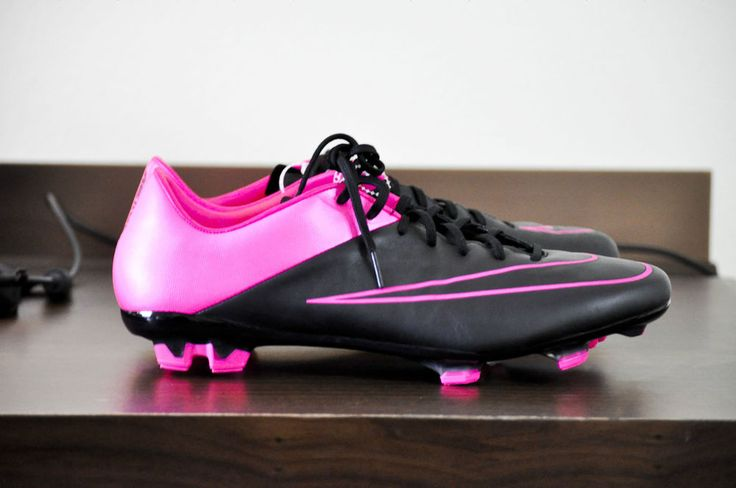 NIKE Mercurial Veloce II Leather FG Mens Soccer Cleats Black, Pink size 11.5 NEW #Nike