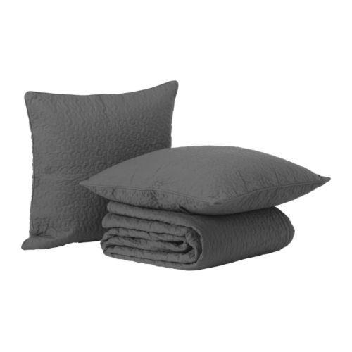 ALINA Bedspread and 2 cushion covers IKEA Quilted bedspread and cushion cover; extra soft.