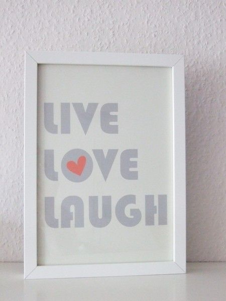 *lebe  liebe  lache!*    ...und damit du´s nicht vergisst, gibt es jetzt diesen liebevoll gestalteten Print von m.belle    -gedruckt auf hochwertig...