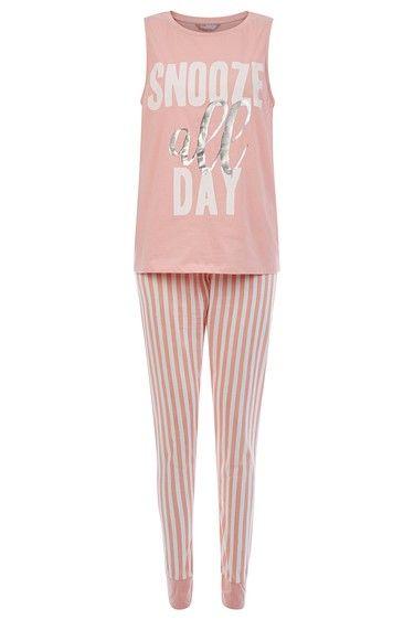Pink Snooze All Day Pyjama Set