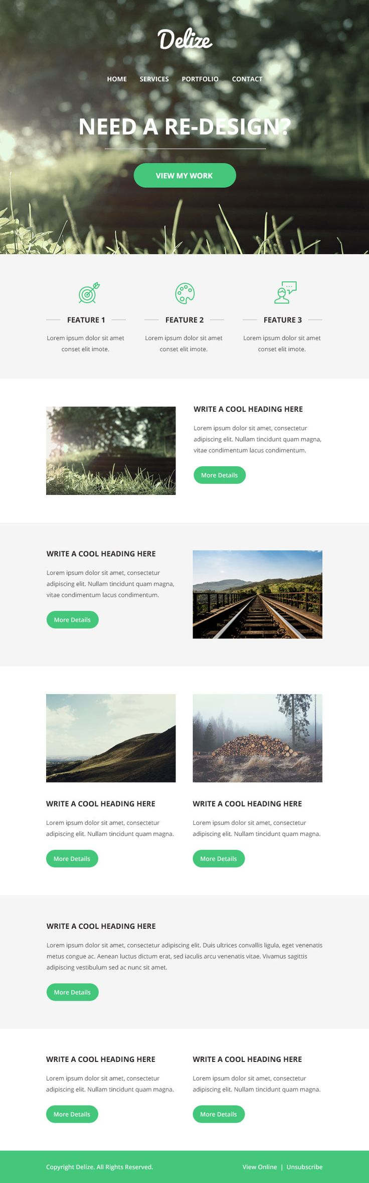 Delize - Free Email Template