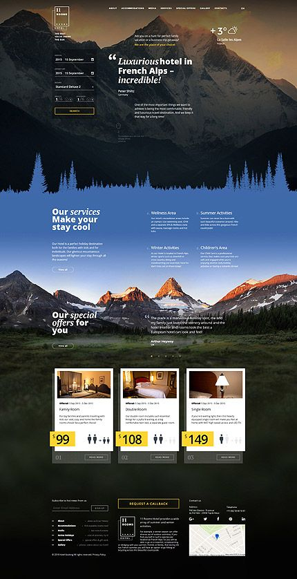 Luxury Mountains Hotel #website #template. #themes #business #responsive #websitethemes