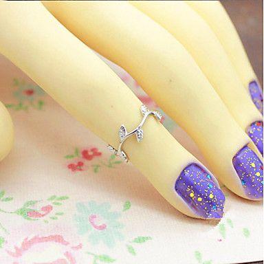 Europese Simple Coppery gevoelige tak Shape Dames Lichtmetalen Verklaring Ringen (gouden, zilveren) (1 Pc) – EUR € 2.87