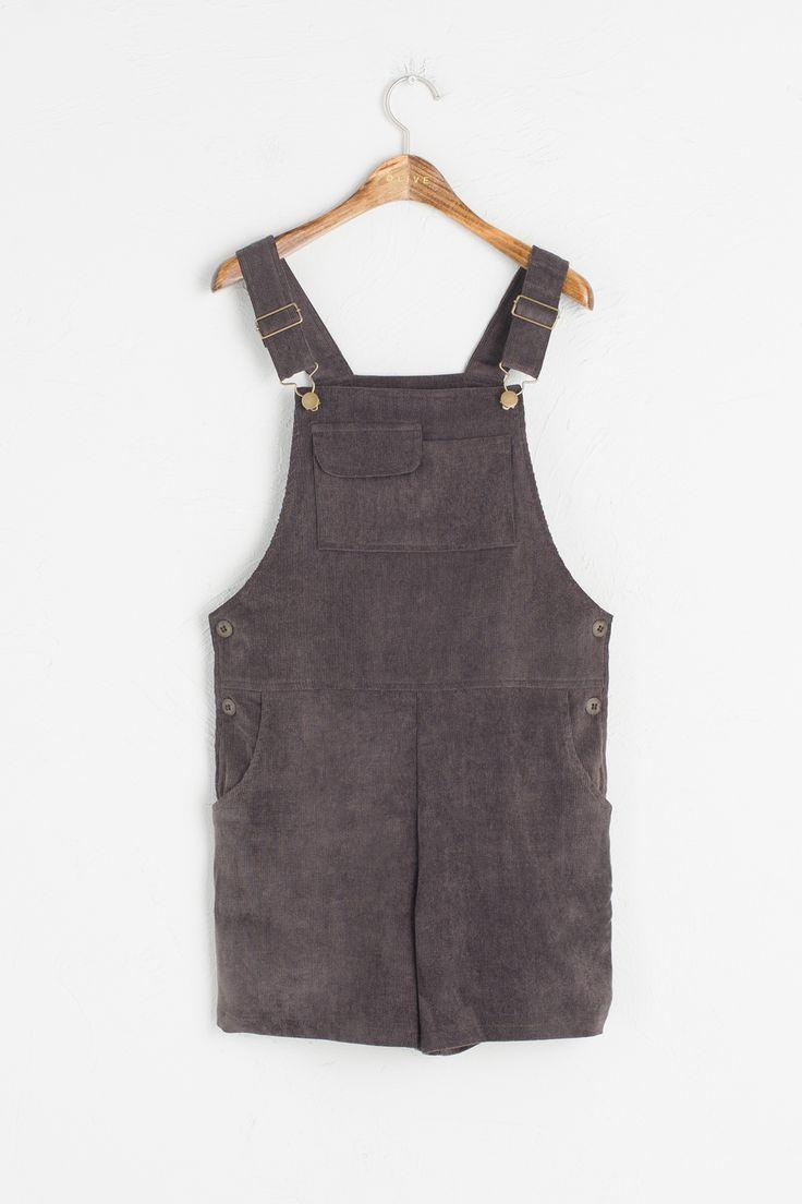 Olive - Corduroy Pocket Detail Dungaree Shorts, Khaki, £59.00 (http://www.oliveclothing.com/p-oliveunique-20160921-025-khaki-corduroy-pocket-detail-dungaree-shorts-khaki)