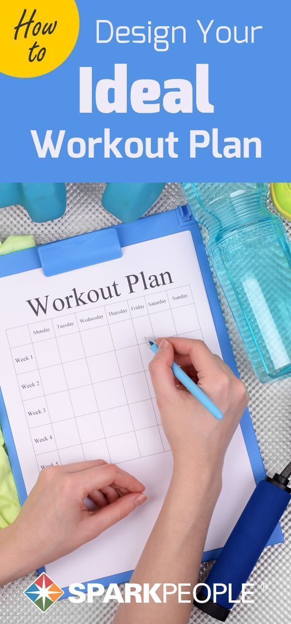 How to Design Your Ideal Workout Plan. Your workout, your way! Learn how to exercise the healthy way, starting with your own workout plan. | via @SparkPeople workout plans, workouts #workout #fitness