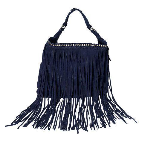 Buy East Suede Studded Bag, Blue Online at johnlewis.com