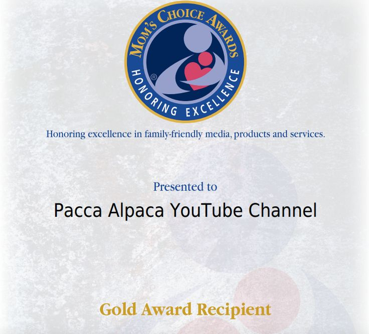 Pacca Alpaca is thrilled to announce his YouTube channel has just received a Gold Award from the lovely Mom's Choice Awards!!! Shukran, merci and thank you! http://bit.ly/ClickForVideos