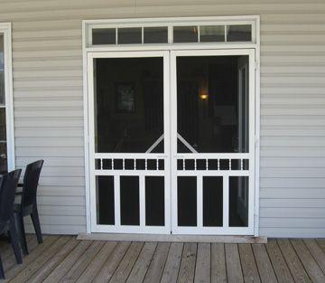 Screen doors  Eeeeeek! I didn't know it was possible to have screen doors with French doors!