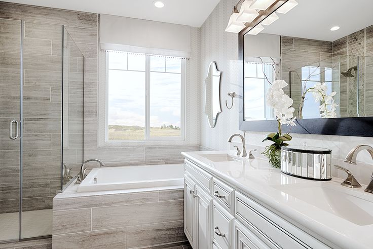 A shower tub/combination = multiple ways to relax | Bernard model home | Oakley, CA | Richmond American Homes