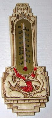 Goth Shopaholic: Intriguing Semi-Goth Antiques From Yesteryear - Devil and North Wind thermometer