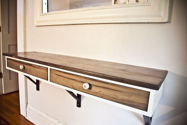 Ikea Hack Ekby Alex With Wood Top And Drawer Fronts