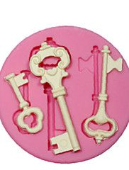 silikonform / mögel steampunk skelett nyckel för hantverk smycken Chokladfondant pmc harts lera