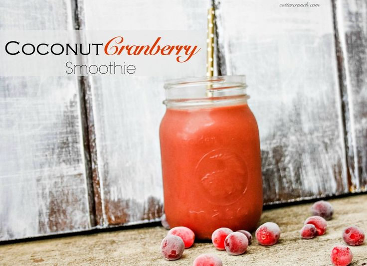 Soothing Coconut Cranberry Smoothie {For Gut Health}. ☀CQ #glutenfree #smoothie