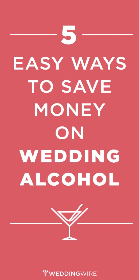 Follow these tips to help save you money on wedding alcohol. #weddingtips #FallBook