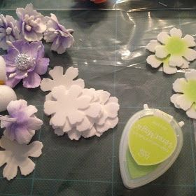 Foamiran Flowers I love to make beautiful Foamiran Flowers. My first Foamiran Flowers. The Roses are made with the Tattered Flora...