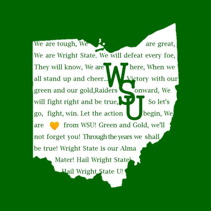 Allison McCallister has Wright State Pride - She made this with the Fight song and alma mater, the heart is about where dayton is too!