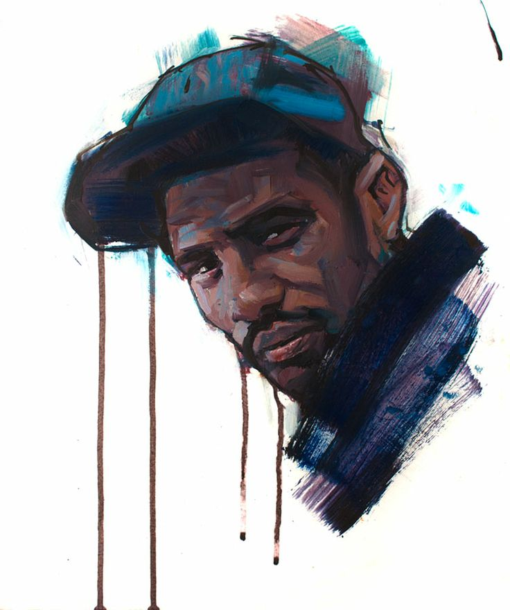 Wretch 32. oil on board. By Jamel Akib. Www.jamelakib.com