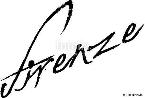 """Firenze text sign"" creato da morgan capasso"